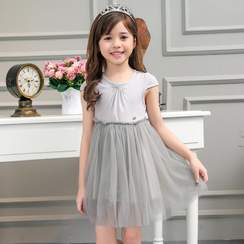110-150 Baby Girls Princess Dress Kids Clothes 2016 Children Girl Elegant Wedding Party Dresses Teenagers Pleated Gowns Dress