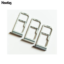 Original New Sim Tray Holder For Samsung Galaxy S7 Single / Dual SIM Card Reader Tray Holder Slot Replacement Part
