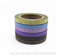 (6pcs/Set) Glitter Washi Tape Set Japanese Stationery Scrapbooking Decorative Tapes Adhesive Tape Kawai  Adesiva Decorativa