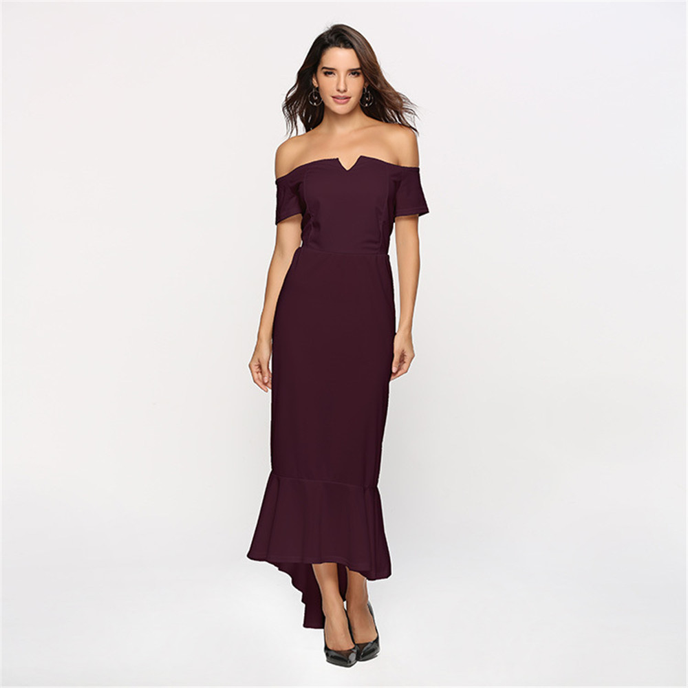 Hot Fashion Short Front Long Back   Cocktail     Dresses   Cut Out Party   Dress   Gown Blue Burgundy White Homecoming   Dress   2019