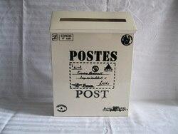 D22 * W6.5 * H29CM biała skrzynka pocztowa gazeta skrzynka na listy żelazna SF-115W pocztowa