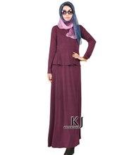 Fashion Muslim Dress Abaya in Dubai Islamic Clothing For Women Muslim Abaya Jilbab Djellaba Robe Musulmane Peplum Dress 5XL