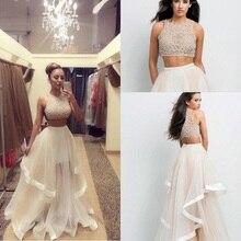 Вечернее платье SML Размер шампанского из двух частей платья на заказ выпускные женские длинные