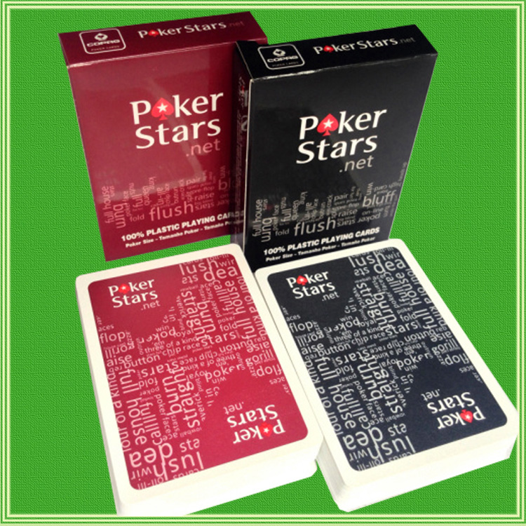 2 Sets/Lot Texas Holdem Plastic playing card game poker cards Waterproof and dull polish poker star Board games poker sets
