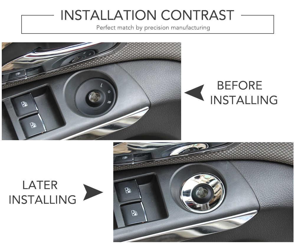 Estilo de coche espejo retrovisor mando caja de decoración para Buick Encore Opel Mokka ASTRA J Insignia Chevrolet Cruze AVEO Trax Malibu