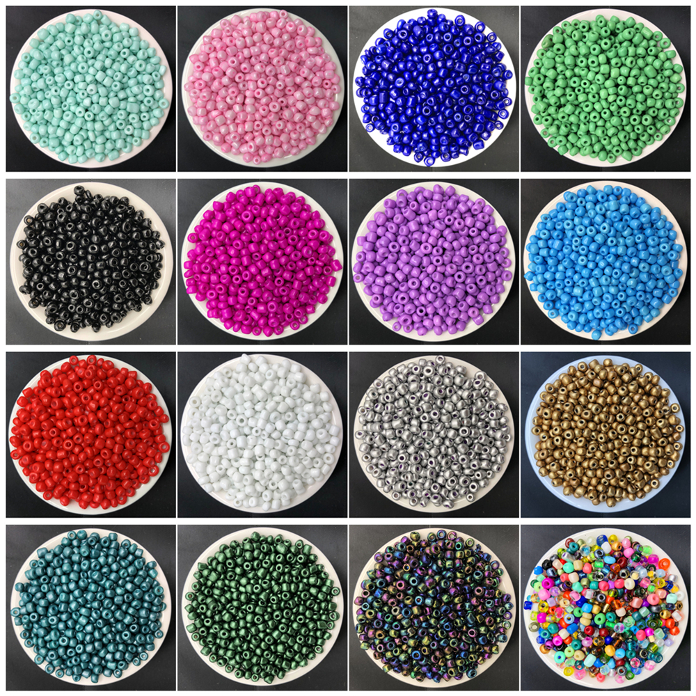 200pcs 4mm Charm Czech Glass Seed Spacer Beads DIY Bracelet Necklace Jewelry Making Accessories(China)