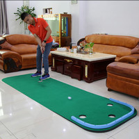 2018 Portable Indoor golf Put trainer Golf practice blanket Artificial grass Mini Golf green Beginners Family Practicing set B8