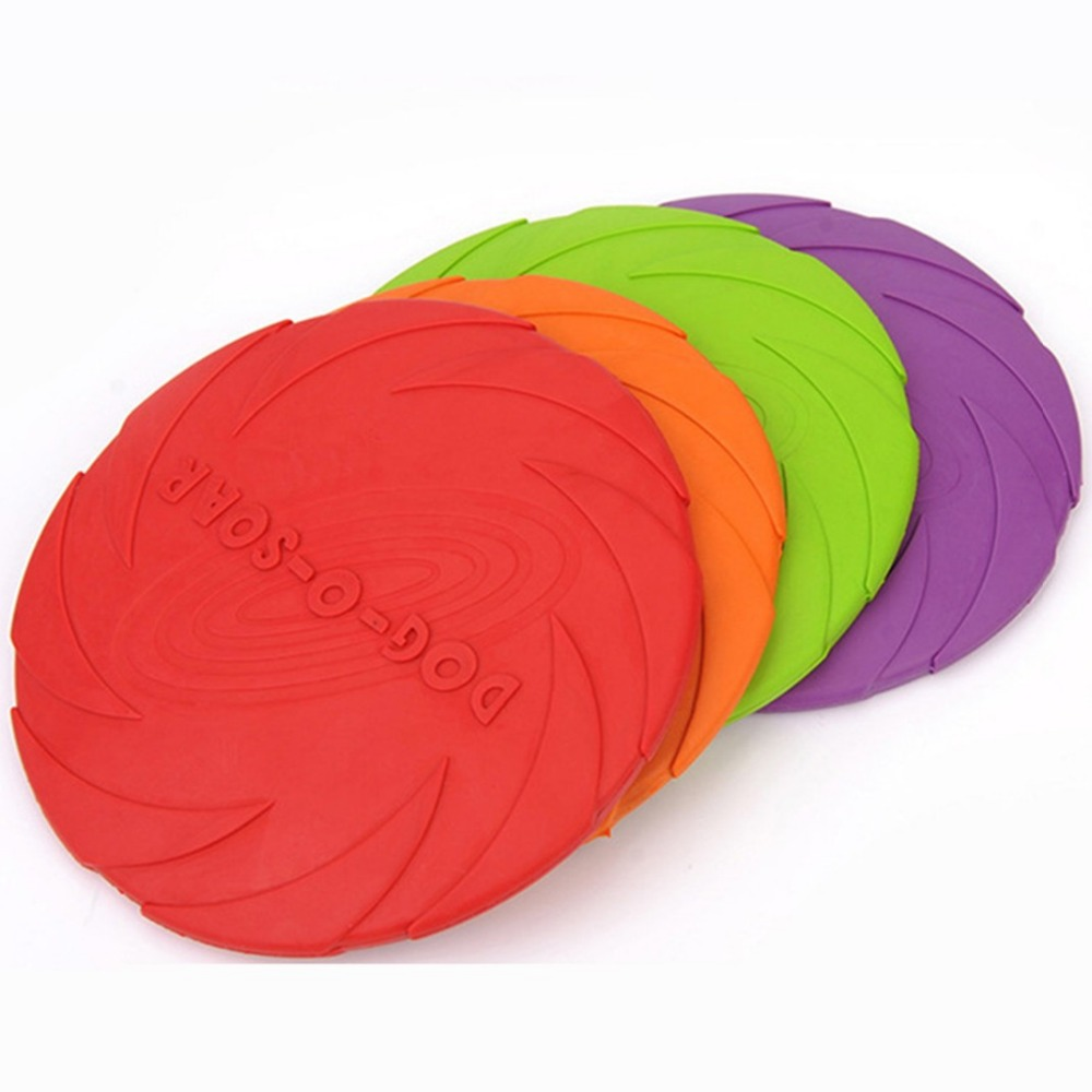 Hot Environmental Protection Silica Gel Soft Pet Flying Discs Dog Toys Saucer Big Or Small Dog Toys Pet Shop Diameter 15 18 22CM(China)
