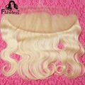 613 Blonde Lace Frontal Closure 13x4 Ear To Ear Lace Frontal With Baby Hair Full Front Lace Closure Body Wave Hair Free Shipping