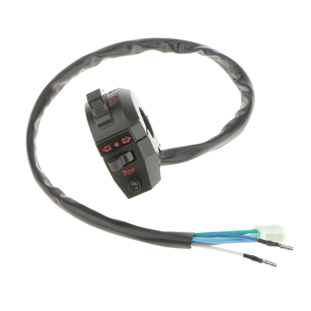 """1 Uds impermeable de aluminio de la motocicleta interruptor control manillar para luz de emergencia Luz de señal de giro compatible con el interruptor 7/8 """"manillar"""
