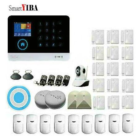 Smart YIBA WiFi GSM GPRS RFID домой сигнализация дом видеонаблюдения Системы Беспроводной IP Камера сирена дыма Сенсор.