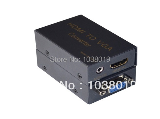 ibay-HcV02,HDMI 1*2,Free shipping,Factory provide!HDMI to VGA converter with audio,1 port HDMI input 1 port VGA  output rs232 to rs485 converter with optical isolation passive interface protection