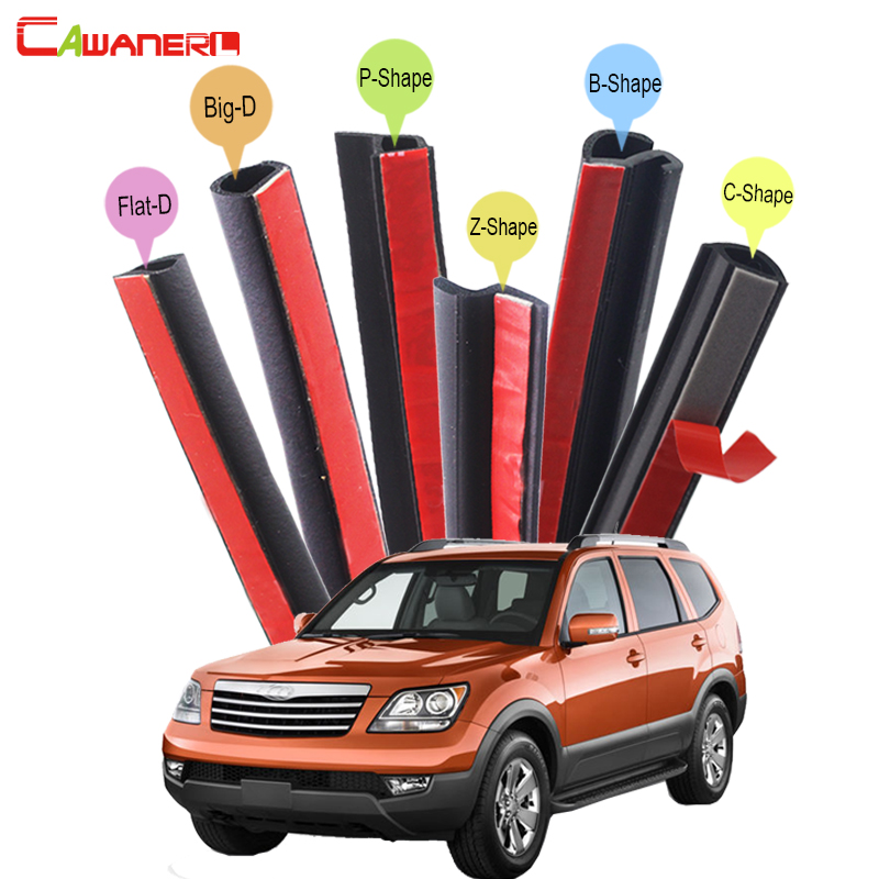 Cawanerl Auto Four Door Trunk Hood Seal Sealing Strip Kit Rubber Weatherstrip Edge Car Styling For Kia Borrego Sorento KX3 cawanerl whole car hood trunk door sealing seal strip kit seal edging trim rubber weatherstrip for jaguar c x17 f pace
