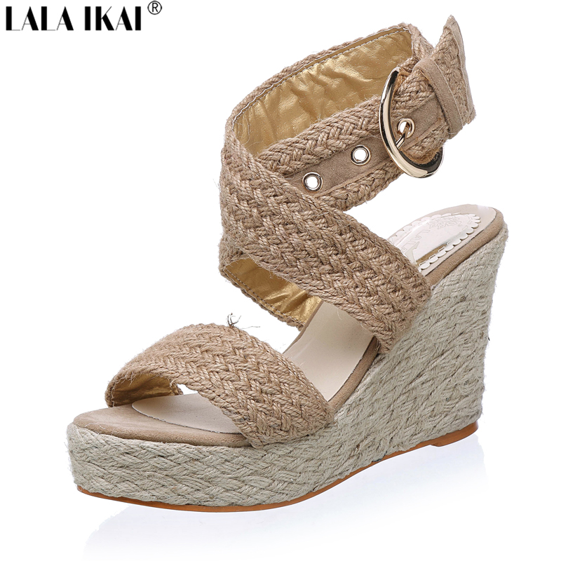 Aliexpress.com : Buy 2017 Women Espadrille Wedge Sandals ...