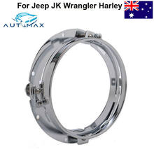 "7"" Round LED Headlight Mounting Bracket Ring Fit For Jeep JK Wrangler Harley(China)"