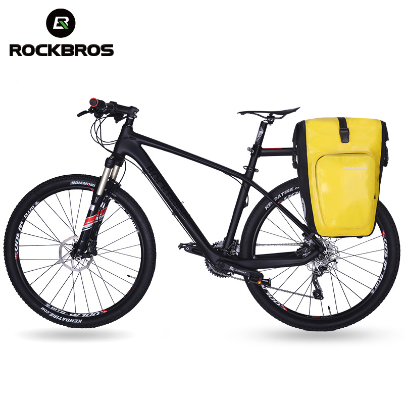 ROCKBROS Cycling Bike Bicycle Bag 27L Full Waterproof Travel Riding MTB Road Bike Rear Bag Tail Seat Pannier Rear Seat Trunk Bag wheel up bicycle rear seat trunk bag full waterproof big capacity 27l mtb road bike rear bag tail seat panniers cycling touring