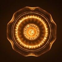 Vintage Loft Industrial Edison Flower Glass Ceiling Lamp DropLight Pendant E27