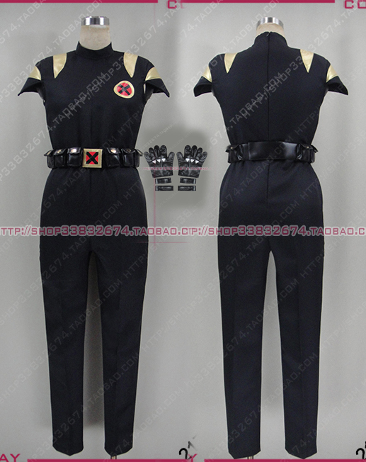 X-men James Logan Howlett coaplay Costume with gloves and waist bag