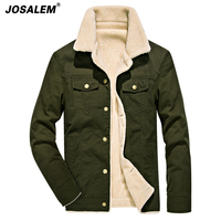 JOSALEM Thick Warm Winter Jacket Men New Autumn Winter Army Green Cotton Man Bomber Jacket Casual