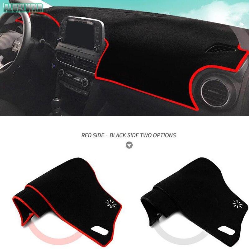 Dashmat Dash Mat Dashboard Cover For Hyundai KONA KAUAI 2018 2019 Pad Sun Shade Dash Board Cover Carpet Car Accessories