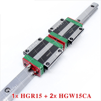 Linear Guide Rail HIWIN 1pcs HGR15 guideways with 2pcs HGW15CA Carriage Slide Block for CNC parts HGW15 400mm 1000mm
