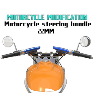 Image 1 - Universal 7/8 22mm CNC Aluminum Motorcycle Handlebar Handle bar For yamaha honda suzuki kaeasaki