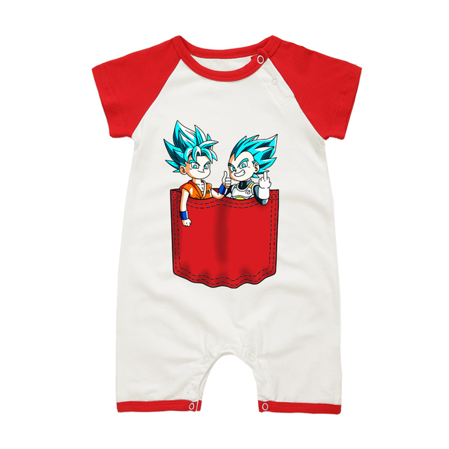 Pyjamas Bébé FILS GOKU VEGETA – Barboteuse Bébé À Manches Courtes