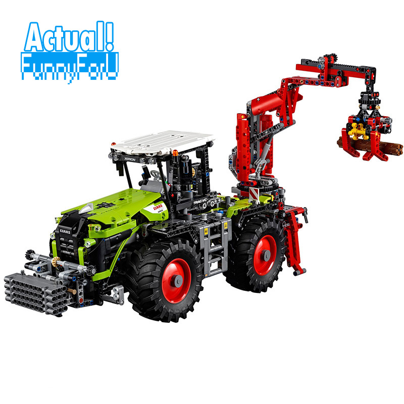 LEPIN 20009 CLAAS XERION 5000 TRAC VC Technic Model Building Blocks Bricks Toys diy For Kids 1977PCS Compatible legoINGly 42054