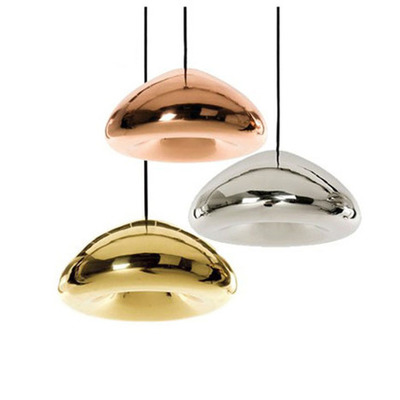Brass Bow Pendant Lamps Modern Glass Plated Pendant Light Foyer Lamp Loft Light Free Shipping