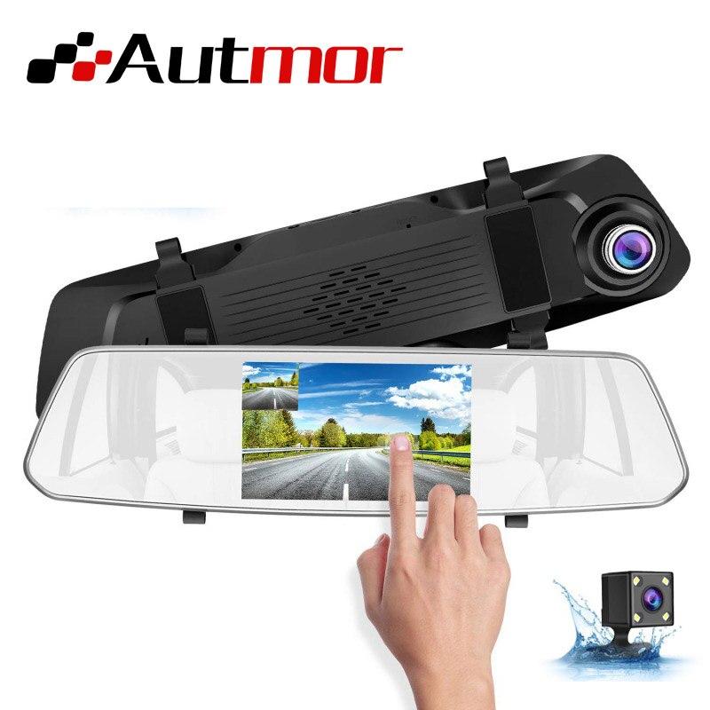 5 pouces voiture Dash Cam écran tactile voiture double Cam Dash voiture rétroviseur DVR 1080 p/720 p 16 GB-128 GB