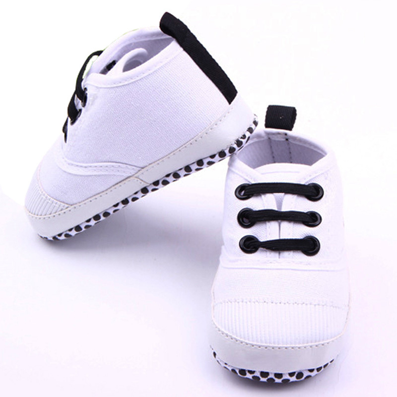 Baby Shoes Boys Solid Cotton Crown Shoes Infant Newborn Soft Sole Baby First Walker Toddler Shoes Hot