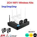 3 шт. массив инфракрасный 5mp/3mp/2mp ICsee приложение водонепроницаемый HD H.265 25fps 2CH 2 канала wifi беспроводной набор IP камер Бесплатная доставка
