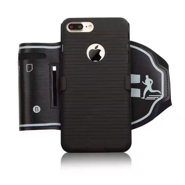 4.7 «5.5» экран телефона Спорт Тренажерный зал Запуск сумка чехол для iPhone 6 S плюс 7 7 Plus водонепроницаемый повязку мобильного телефона кожух ремн…
