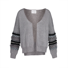Здесь можно купить  Young17 Autumn Sweater Women 2017 Gray Embroidery Patchwork Leisure Slim Geometric Knitted Fall Sweater Female Cardigan Sweater
