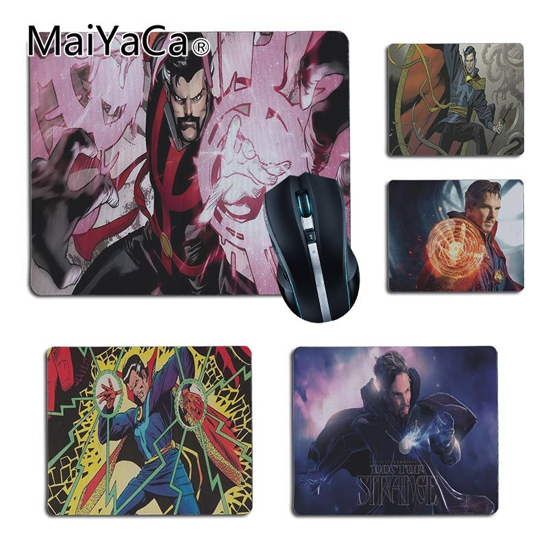 MaiYaCa Top Quality DR Marvel Doctor Comics Computer Gaming Mouse mats Size 25x29cm 18x22cm Rubber Mousemats