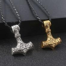 Thor hammer s martelo colares viking runas nórdicas amuleto pingente colar para homem jóias presente