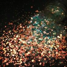 Смешанный размер белый блеск круглая точка Spangle форма с золотым светом оттенок для ногтей Блеск Искусство ремесло украшения