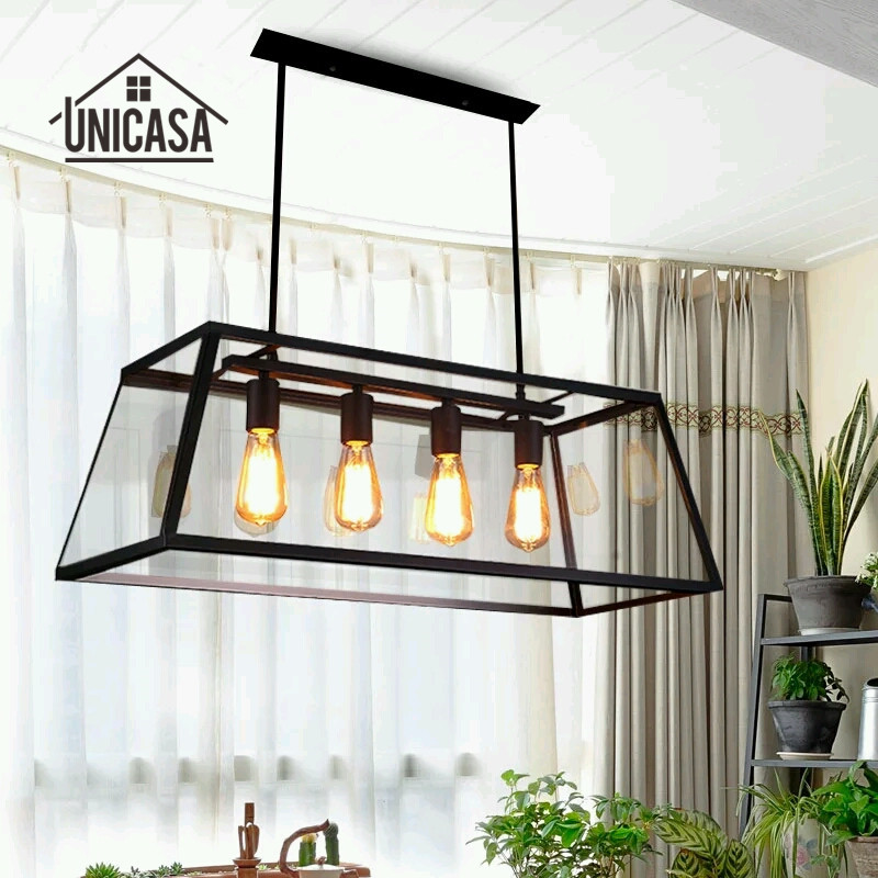 где купить Vintage Country Pendant Lights Wrought Iron Industrial Lighting Office Kitchen Island Large Light Antique Pendant Ceiling Lamp по лучшей цене