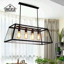 Lámparas colgantes Vintage de hierro forjado para iluminación Industrial para oficina, cocina, Isla, lámpara colgante antigua para techo