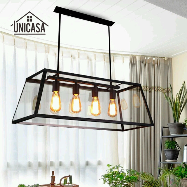 Vintage Country Pendant Lights Wrought Iron Industrial Lighting ...