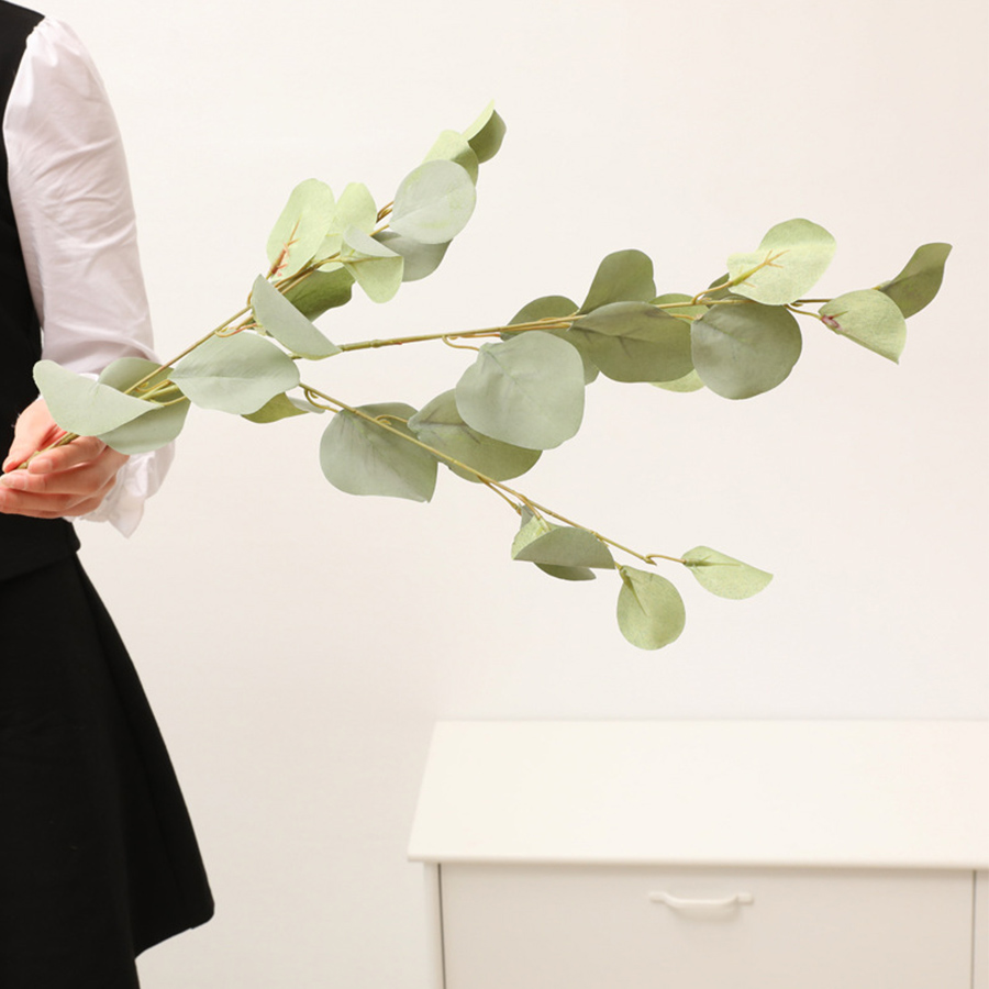 20 individual gum stems in total Home decor table centerpieces gum leaves DIY weddings bouquets spinning gum Artificial Eucalyptus