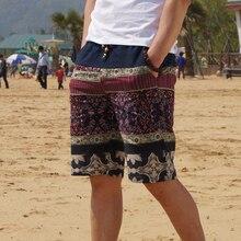 2020 Summer New Mens Bermuda Shorts Loose Straight Floral Hawaiian Casual Linen Short Pants Male Brandshorts boardshorts underwearshorts swimwear