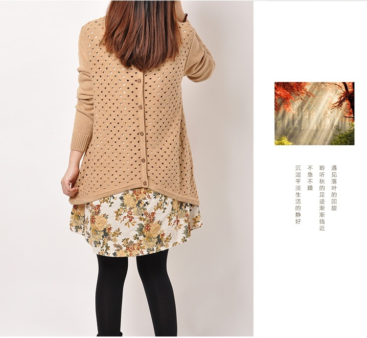 Autumn Winter Women shirt Plus Size Knitted Two-piece suit blouse Casual Print Patchwork Pullover Sweater Tops 50