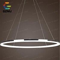Wonderland Single Ring Acrylic Modern Design LED Pendant Light CE Lamp Art Decoration for Home Living Room Office Lustre PL 400