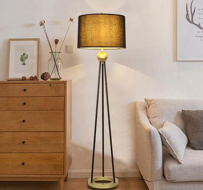 Nordic style three-wheeled Floor Lamps after the modern creative bedside LED eye protect ...