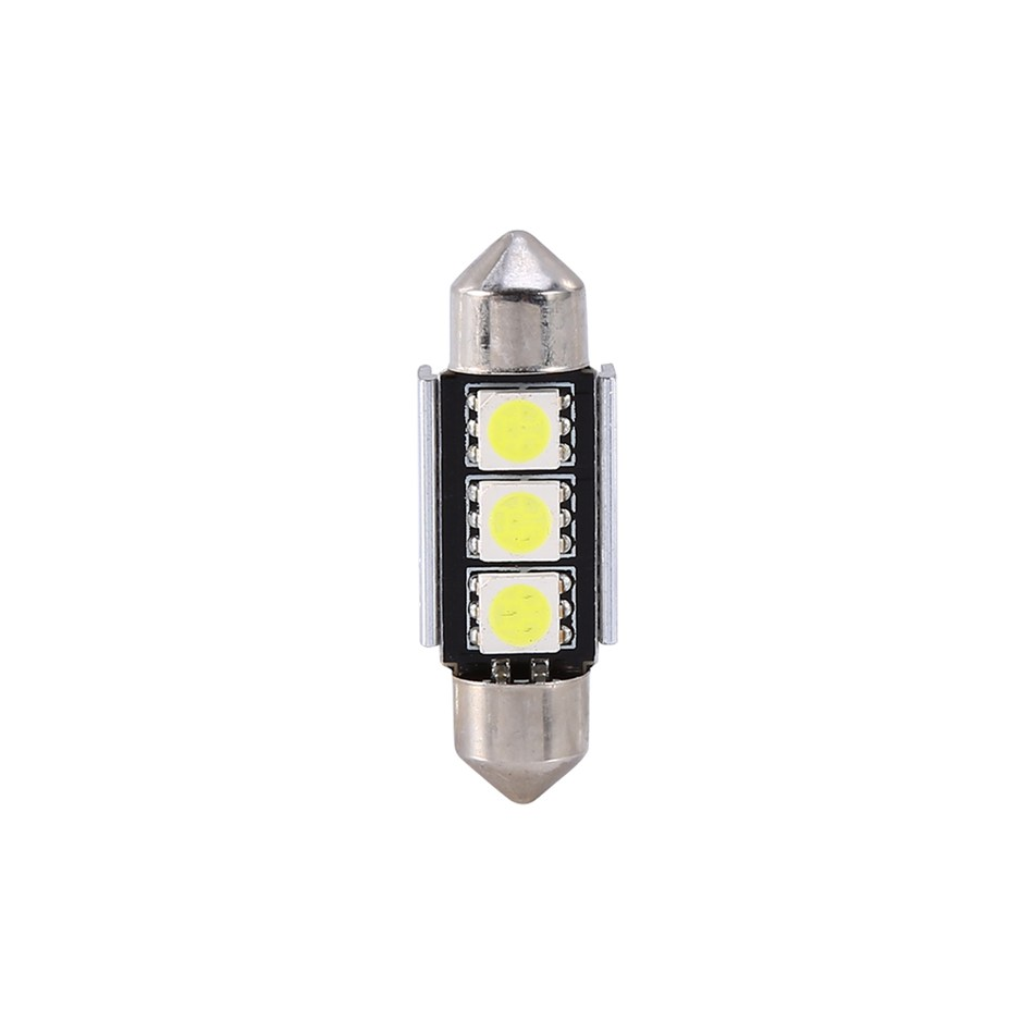 Xenplus 4PC Car Auto 36mm CANBUS Error Free 3 LED 5050 SMD 6418 C5W - Bilbelysning - Foto 3