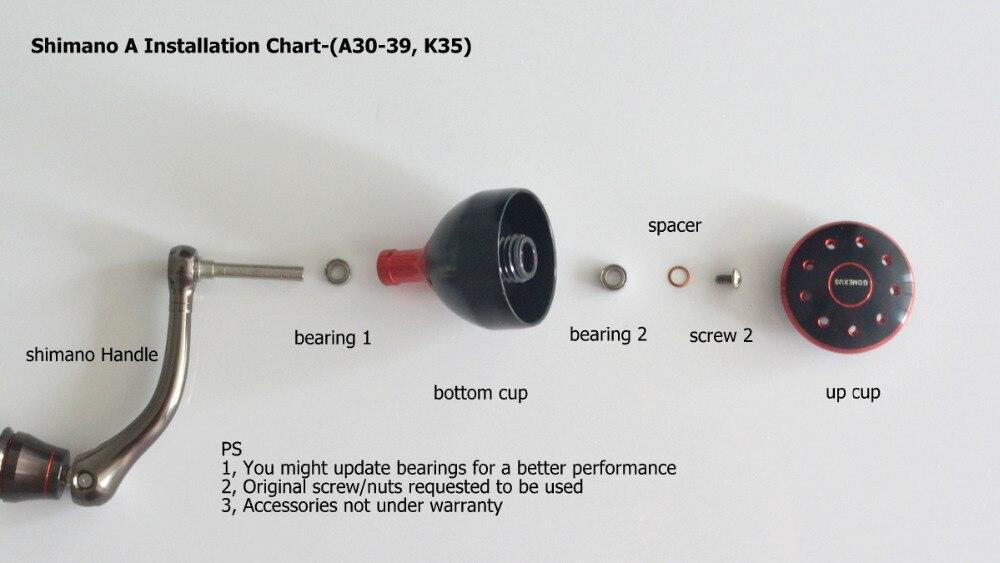 Reel Power Handle Knob For Shimano A Rarenium CI4+ 2500FA