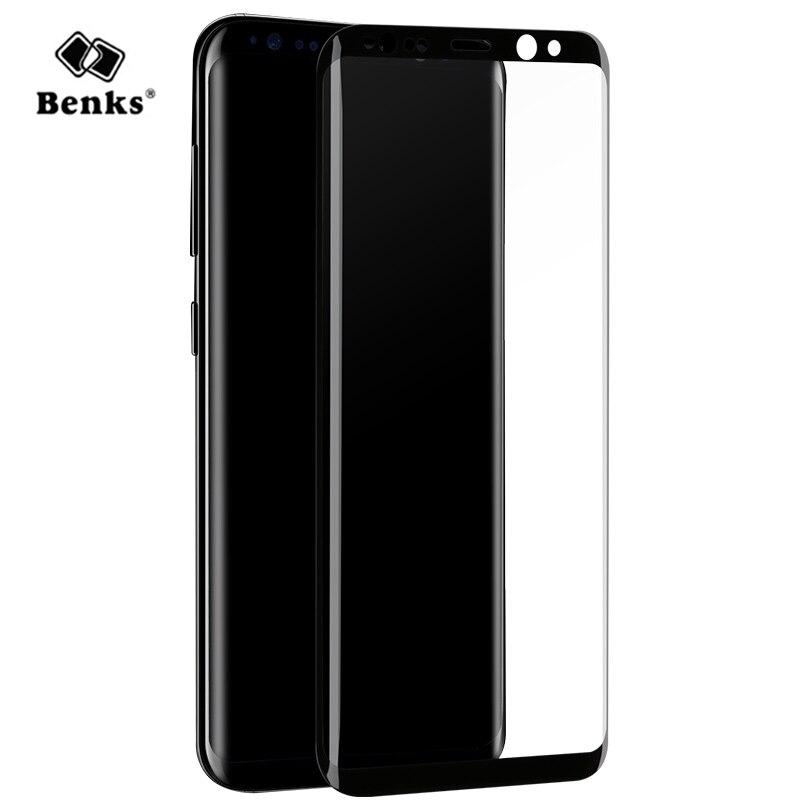 imágenes para 3D Curvo de Cristal Templado para Samsung Galaxy S8/S8 Plus Protector de Pantalla Original Benks Cubierta Completa Anti-cero Película protectora