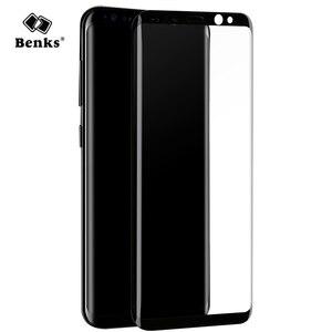 Image 1 - 3D изогнутое закаленное стекло для Samsung Galaxy S8, защита экрана, оригинал, Benks, полное покрытие, защита от царапин, защитная пленка