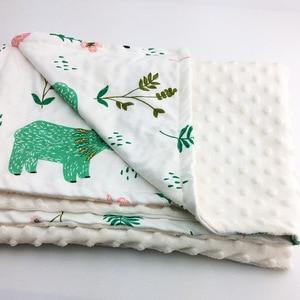 Image 4 - Minky Baby Blanket Flannel Fleece Animal Blanket Infant Swaddle Nap Receiving Stroller Wrap For Newborn Baby Bedding Blankets